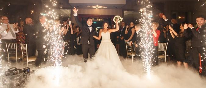 Cold Spark Wedding Entrance by Baltimore Wedding DJ Raptor Productions